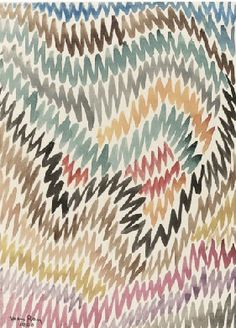 [Man Ray (1890 - 1976), Vibration, 1940, watercolor on paper, Sotheby's.]