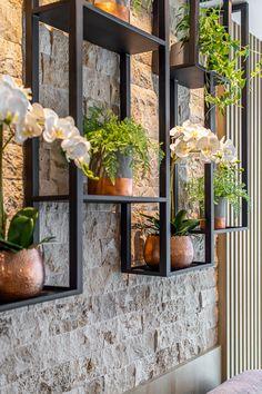 75 house decor ideas for catchy shelves 2 - coodecors Home Interior Design, Interior Decorating, Home Entrance Decor, Home Decor, Wall Panel Design, Small Balcony Garden, Plant Shelves, Living Room Flooring, Modern House Design