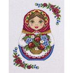 Набор для вышивания крестом Panna НМ-1791 Русская матрёшка. Осень