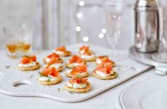 Follow our easy blini recipe to make delicious bite-sized treats, perfect as a Christmas party canapé. Find more Christmas recipes at Tesco Real Food.