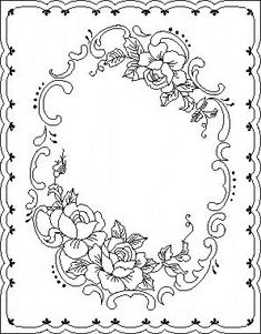 Pergamano šablony - free pattern - Kateřina Horáková - Picasa Web Albums Maureen McNaughton roses maybe? Paper Embroidery, Embroidery Patterns, Colouring Pages, Coloring Books, Rosemaling Pattern, Molduras Vintage, Parchment Design, Parchment Cards, Paper Cards