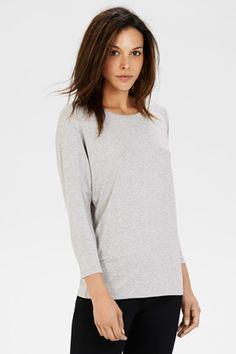 Clothing | Grey KEYHOLE DETAIL TOP | Warehouse
