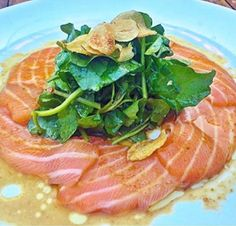 Scottish #Salmon Carpaccio... use only the best salmon and order it from us here! Free Overnight Delivery --> http://www.floridaseafood.com/scottish-salmon-starting-with-3-5-lbs/