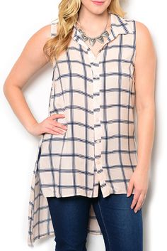 http://www.dhstyles.com/Pink-Navy-Plus-Size-Trendy-Sheer-Plaid-High-Low-Bu-p/jane-9289x-pink-navy.htm