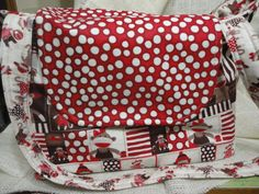 Monkey Around in colors of Red polka dots, Brown and cream stripes & monkeys everywhere can be used as a purse, bag, tote, or diaper bag. $69.00
