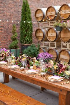 outdoor winery wedding reception - photo by Urban Rose Photo