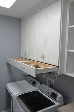 DIY Laundry Room Storage Shelves Ideas Laundry room decor Small laundry room organization Laundry closet ideas Laundry room storage Stackable washer dryer laundry room Small laundry room makeover A Budget Sink Load Clothes Laundry Room Remodel, Laundry Room Cabinets, Laundry Room Organization, Laundry Storage, Organization Ideas, Diy Cabinets, Storage Ideas, Laundry Room Drying Rack, Laundry Organizer
