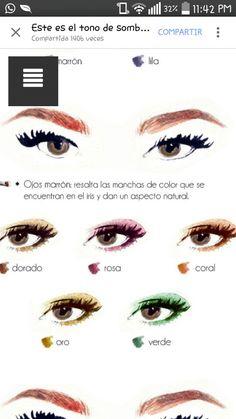 Makeup para ojos marrón
