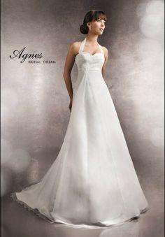 Einfach Neckholder Empire Rüsche Hochzeitskleider EHS91306075