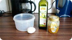 Ihr benötigt:  ● Gefäß eurer Wahl  ● 1 Ei  ● 2 EL Olivenöl  ● 1 TL Honig     Ihr gebt das Ei und den Honig zusammen in eine Schüssel eure...