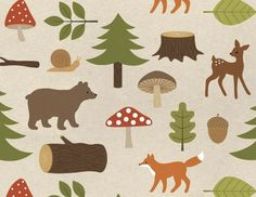 enna forest wrapping paper
