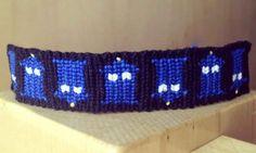 Tardis friendship bracelet?! I am SO making this!
