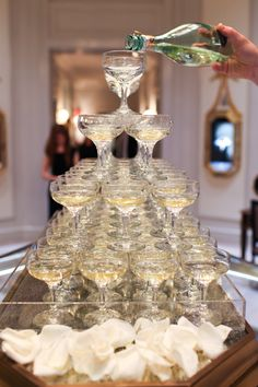 Belle by Harry Winston Event, Champagne Tower