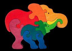 Hey, I found this really awesome Etsy listing at https://www.etsy.com/listing/117719456/elephant-family-montessori-waldorf