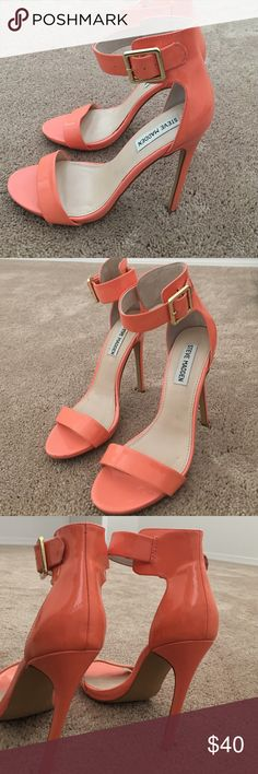 Steve Madden - Coral pink pumps Used once! Very good condition. Coral pink pumps by Steve Madden. Steve Madden Shoes Heels