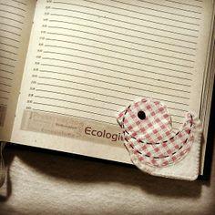 Mei Mei Bird - marcador de livro. #meimeiatelie