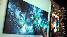 Abstract Art painting 'Neptunes Veil' Modern, contemporary, Mix Lang How...
