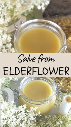 Anti-Aging Elderflower Salve to improve elasticity of your skin Herb Recipes, Organic Recipes, Real Food Recipes, Healthy Recipes, Soap Recipes, Herbal Remedies, Health Remedies, Healthy Foods To Eat, Healthy Eating