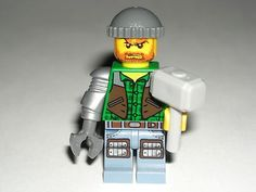 LEGO Monster Fighters Zombie Hunter Minifigure Minifig w/ Thor Sledgehammer 9465 $7.99