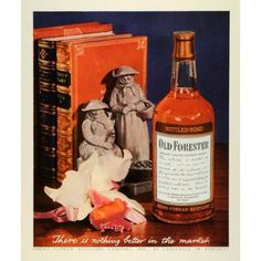 1944 Ad Brown-Forman Distillery Bottle Old Forester Whisky
