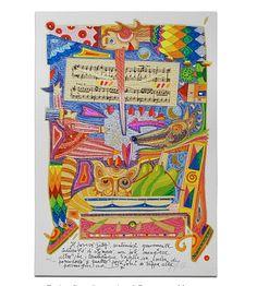 """Francesco Musante, serigrafia polimaterica, tiratura limitata. Dalla cartella """"Pinocchio"""""""