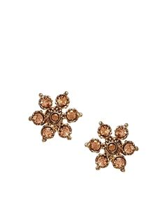 Warehouse Sparkle Flower Stud Earrings