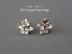 DIY Crystal Cluster Earrings