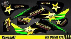 Kit Déco Quad / Atv Decal Kit Kawasaki KFX 400 - Rockstar Quad, Iron Man Birthday, Kit, Decals, Comic Books, Tags, Sticker, Decal, Cartoons