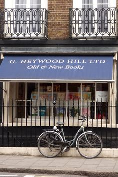 "Heywood Hill, Curzon Street. In its way, the most ""exclusive"" bookshop in London. Nancy Mitford worked here."