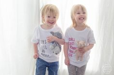 After I made the twins special shirts for Valentine's Day, every time I get out the iron, they ask me if I'm making them special shirts. So when Cricut sent out a challenge to whip up some fun tees… I thought, 'why the heck not!?'. I had this idea of making a 'boys will be … T Shirt Diy, Cool Tees, Some Fun, Boy Or Girl, Cricut, Graphic Sweatshirt, T Shirts For Women, Sweatshirts, Boys