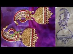 Hand Embroidery Design Patterns, Hand Embroidery Videos, Embroidery Works, Best Blouse Designs, Bridal Blouse Designs, Jhumka Designs, Rangoli Designs, Maggam Work Designs, Hand Work Blouse Design