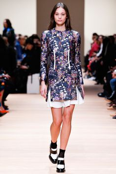 Brocade trend on AW 2015 runway at Carven / via www.fashionedbylove.co.uk