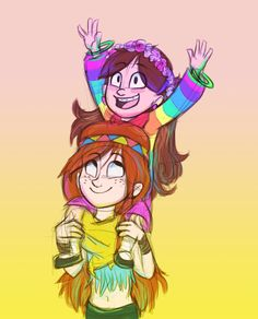 I would love for me and my sis to have a connection like this..... P.S I know wendy and Mabel are not sisters. Sincerely, Nyan