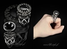 Gothic 'Poison Ring' designed by me for www.Restyle.pl  #gothicjewelry #gothjewelry #darkjewelry #horrorjewelry