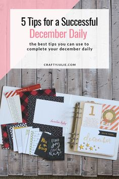 Looking to start your December Daily scrapbooking project, but don't know where to begin? Get started today and check out these 5 December Daily tips to get ready for one of the best scrapbooking projects of the year. Christmas Mini Albums, Christmas Mix, Christmas Scrapbook, Handmade Christmas, Christmas Craft Projects, Christmas Decorations, December Daily, Scrapbooking Layouts, Crafty