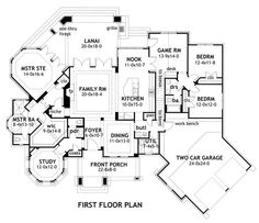 FLOOR PLAN I think I would move the garage forward enough to have hallway to bedroom 2 and 3 wing.  Have game room to itself off of nook.  Otherwise, I love this plan
