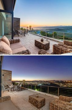 Enjoy lovely sunrises and sunsets on this beautiful balcony in Knysna.  #TravelGround #citylights