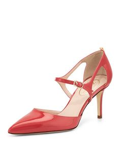 $350.00 by Sarah Jessica Parker Phoebe Patent Mary Jane Pump, Red