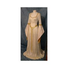 Elegant Medieval Dresses - Bing images ❤ liked on Polyvore featuring dresses and beige dress