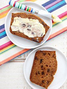 Whole Wheat Cinnamon Raisin Quick Bread from 100 Days of Real Food