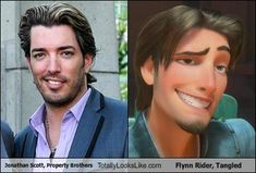 Jonathan Scott, Property Brothers Totally Looks Like Flynn Rider, Tangled | Carddit