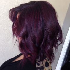 Hair by Kierra Taylor | Dallas, Texas Colorist | www.kierrataylor.com | Deep Plum Lob