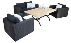 Wickersofasets Portman Diningsofaset  Seater Segals Outdoor Furniture