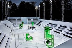 Lacoste set in the Jardin des Tuileries Stage Design, Set Design, Lacoste, Alexandre De Betak, Award Tour, Bureau Betak, Pop Up, Catwalk Design, Jardin Des Tuileries