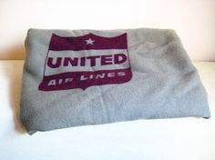 United Airlines Blanket