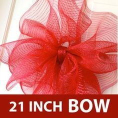 Deco Mesh Bow Tutorial with 21 - Gift Bags Bows & Wrapping Deco Mesh Bows, Deco Mesh Crafts, Wreath Crafts, Diy Wreath, Holiday Crafts, Diy Crafts, Wreath Ideas, Fall Deco Mesh, How To Make Wreaths