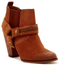 Steven By Steve Madden Heeled Bootie Cognac Steven By Steve Madden Heeled Bootie Cognac Leather upper. Almond toe. Strap detail with zip trim. Side goring. Stacked chunky heel. Approx. 3.5 heel. New in Box. Steven by Steve Madden Shoes Ankle Boots & Booties