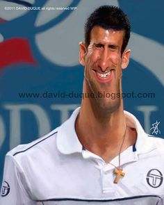 "Caricaturas de Famosos: ""Novak Djokovic"" por David Duque"