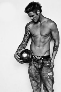 David Beckham - don't really like him. But this is hot!