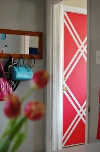 Wall Designs With Tape House For Five Graphic Painted Interior Door The How